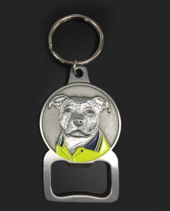 Staffordshire Bull Terrier Keyring Bottle Opener