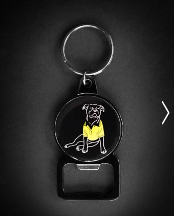 Staffordshire Bull Terrier Keyring Bottle Opener