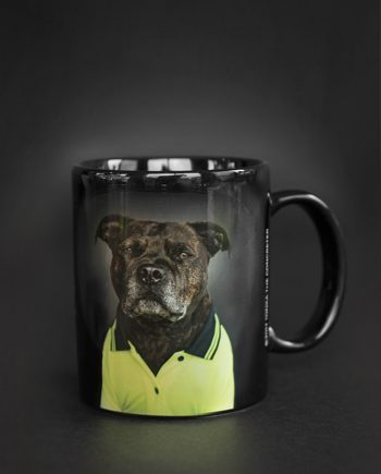 Staffy Black Coffee Mug