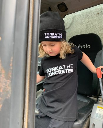 kids concreting tshirt workwear